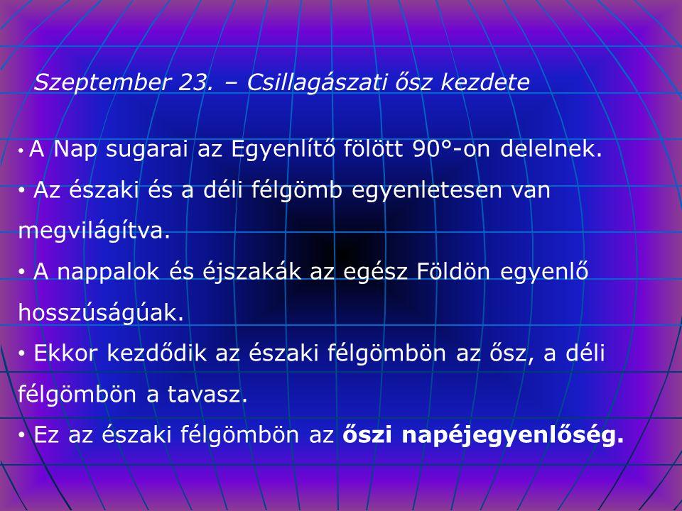 Szeptember 23. – Csillagászati ősz kezdete
