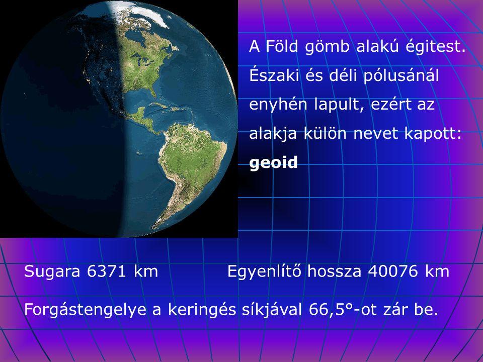 A Föld gömb alakú égitest