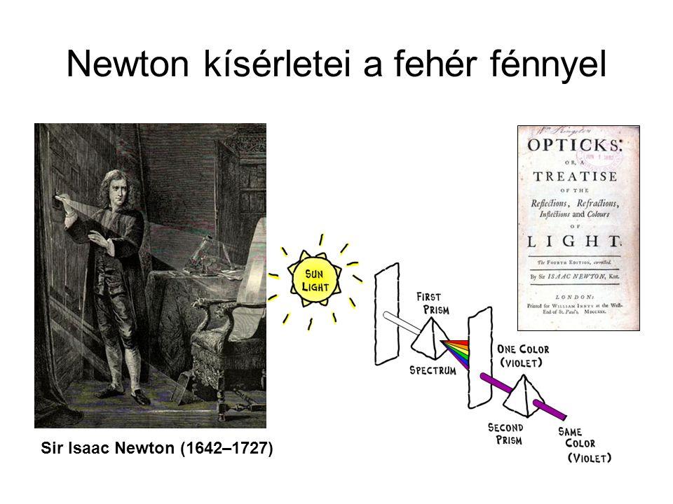 Newton kísérletei a fehér fénnyel