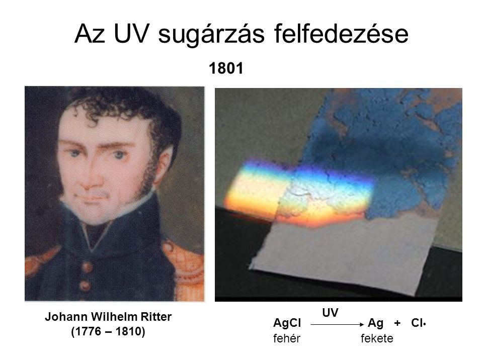 Az UV sugárzás felfedezése