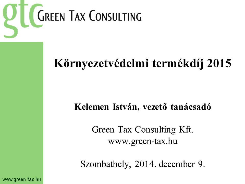 Környezetvédelmi termékdíj 2015
