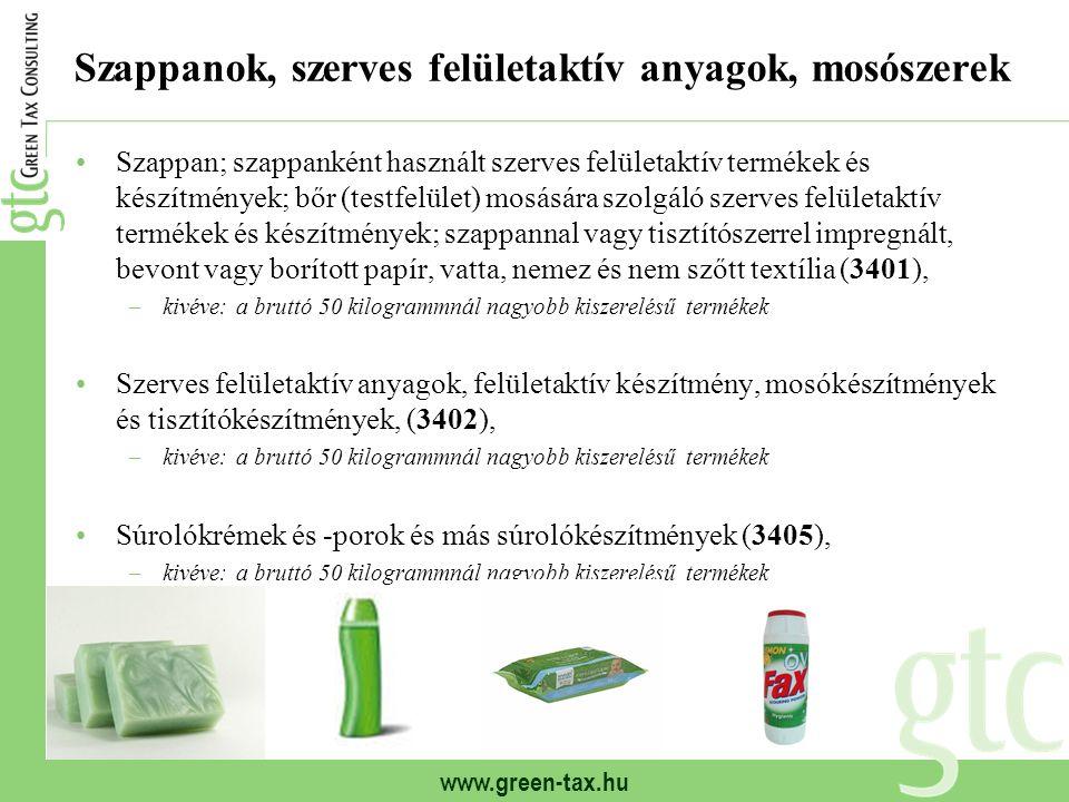 Szappanok, szerves felületaktív anyagok, mosószerek