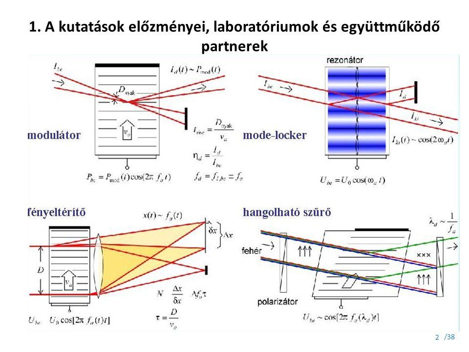 1. A kutatások előzményei, laboratóriumok és együttműködő partnerek