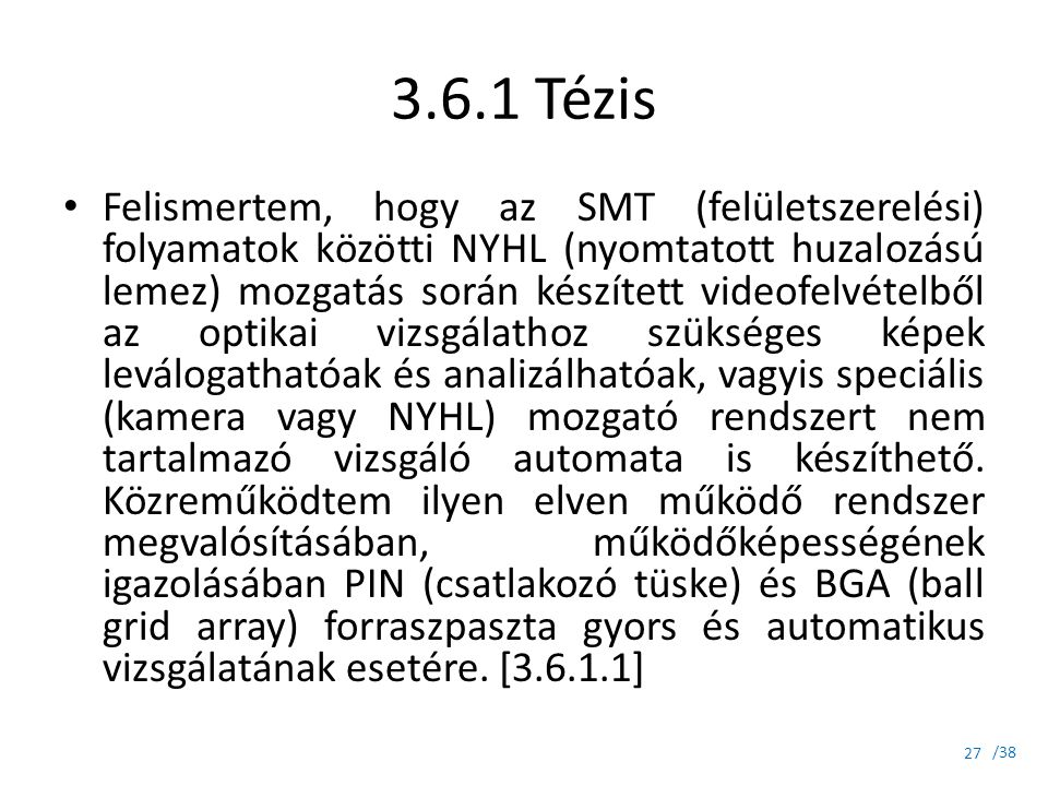 3.6.1 Tézis