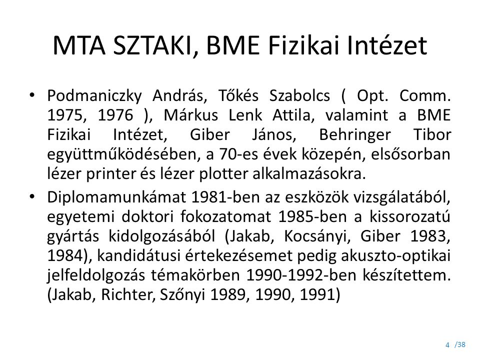 MTA SZTAKI, BME Fizikai Intézet