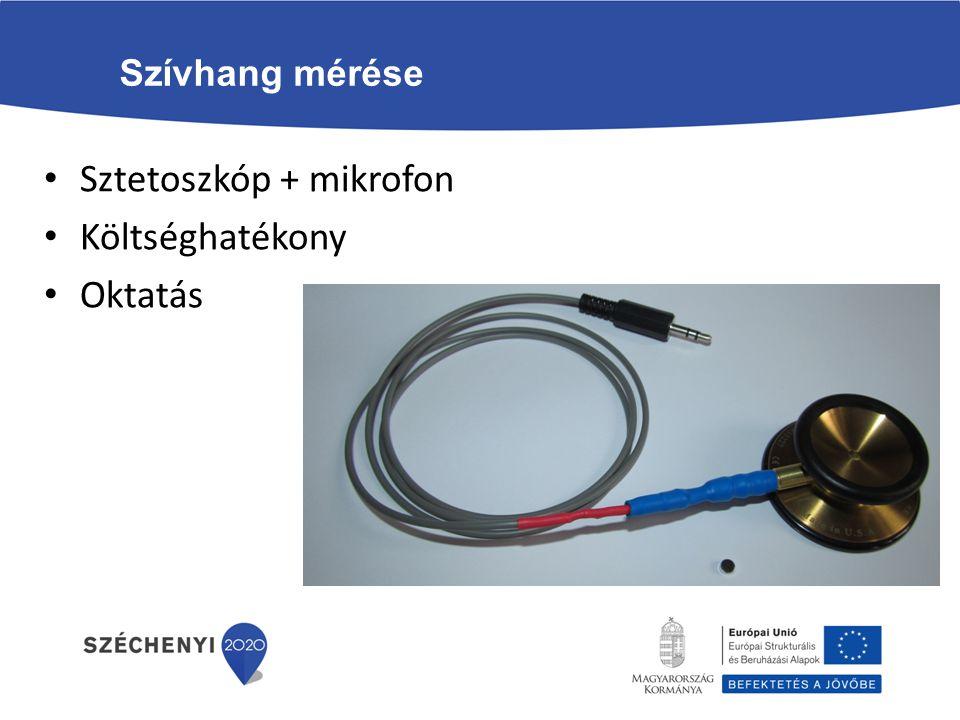 Sztetoszkóp + mikrofon Költséghatékony Oktatás