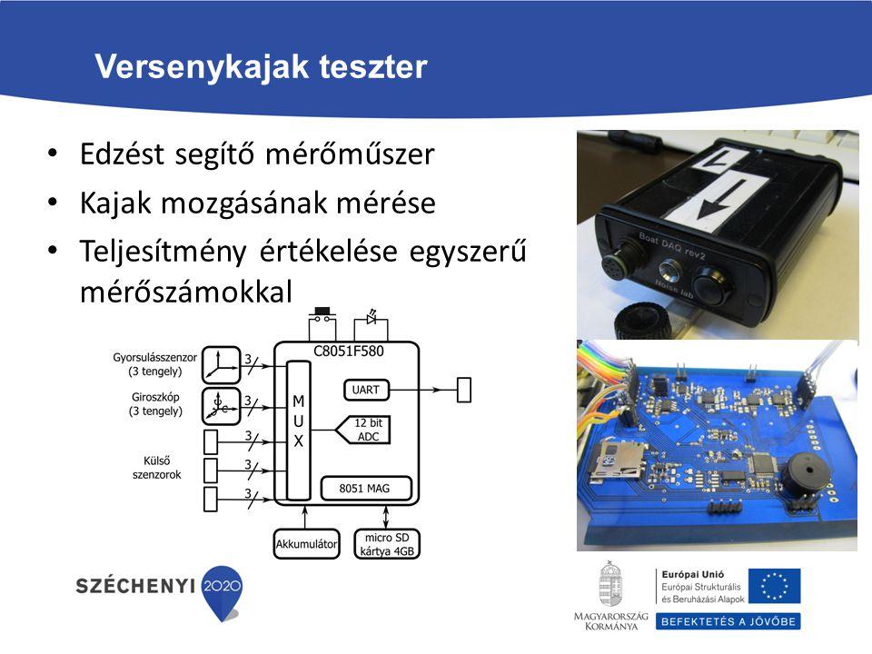 Versenykajak teszter Edzést segítő mérőműszer. Kajak mozgásának mérése.