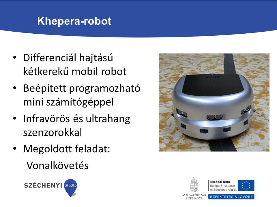 Differenciál hajtású kétkerekű mobil robot