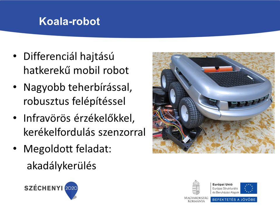 Differenciál hajtású hatkerekű mobil robot
