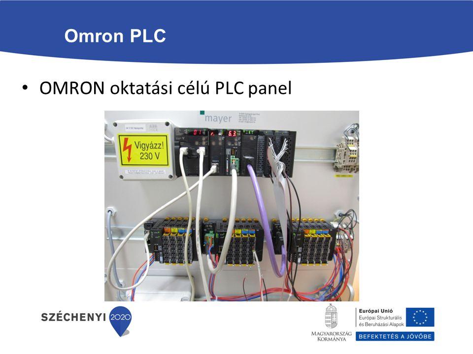 OMRON oktatási célú PLC panel