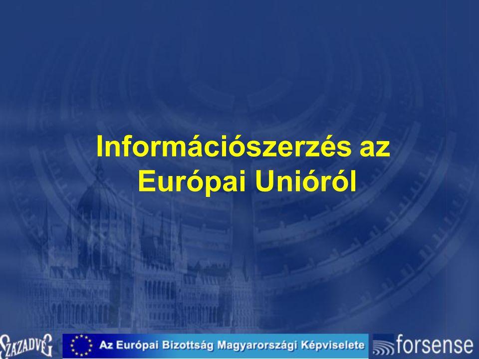 Információszerzés az Európai Unióról