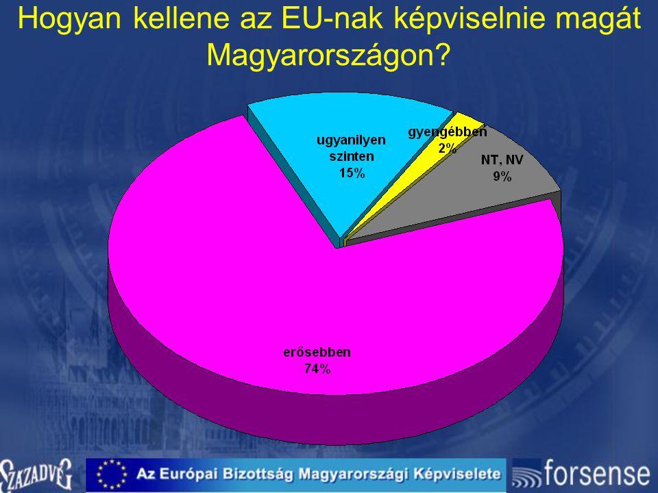 Hogyan kellene az EU-nak képviselnie magát Magyarországon