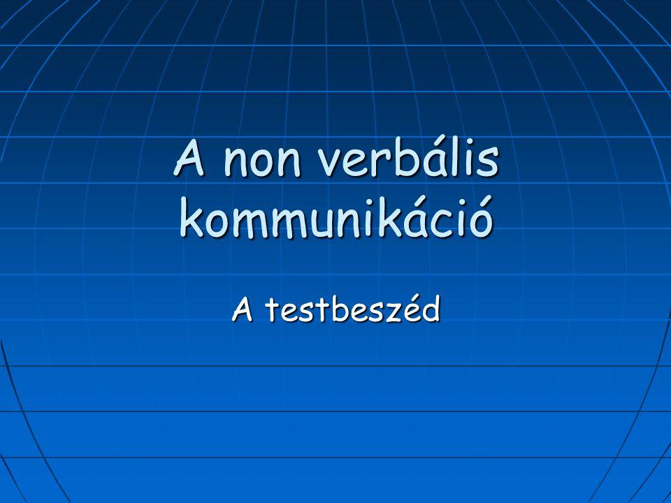A non verbális kommunikáció