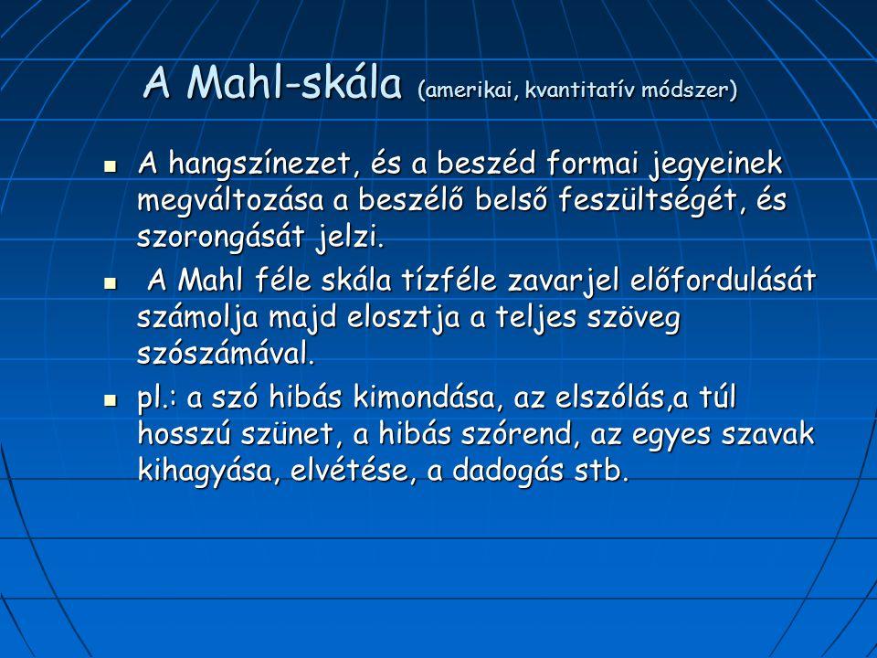 A Mahl-skála (amerikai, kvantitatív módszer)