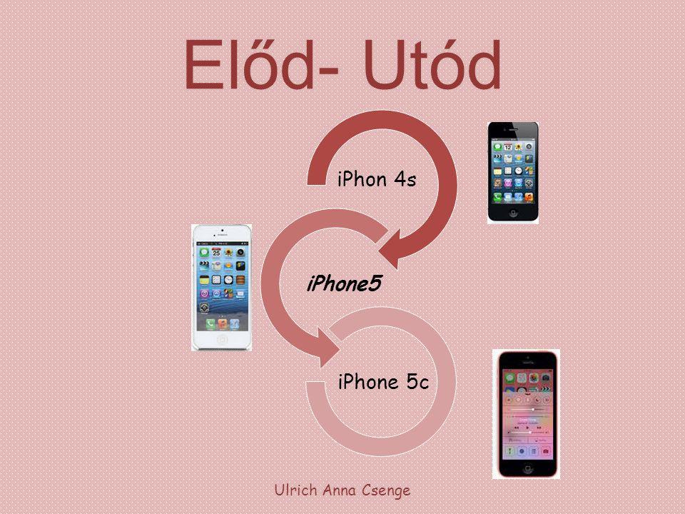 Előd- Utód iPhon 4s iPhone5 iPhone 5c Ulrich Anna Csenge