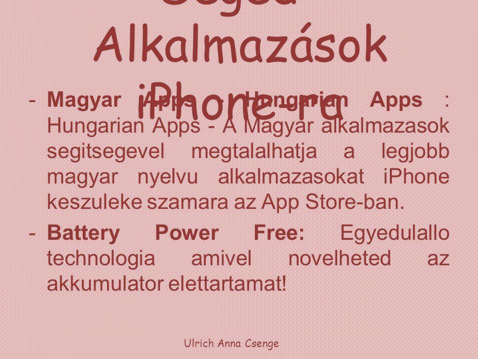 Segéd-Alkalmazások iPhone-ra