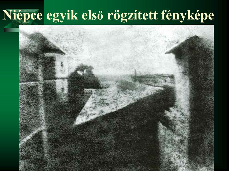 Niépce egyik első rögzített fényképe