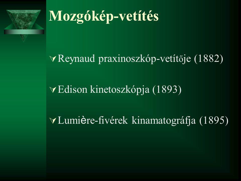 Mozgókép-vetítés Reynaud praxinoszkóp-vetítője (1882)