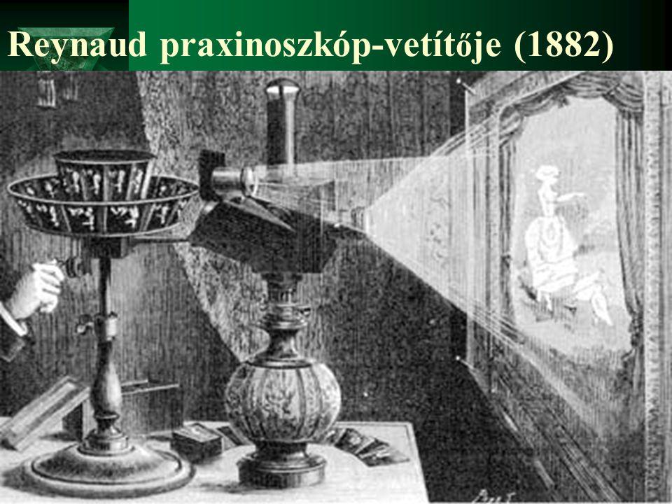 Reynaud praxinoszkóp-vetítője (1882)