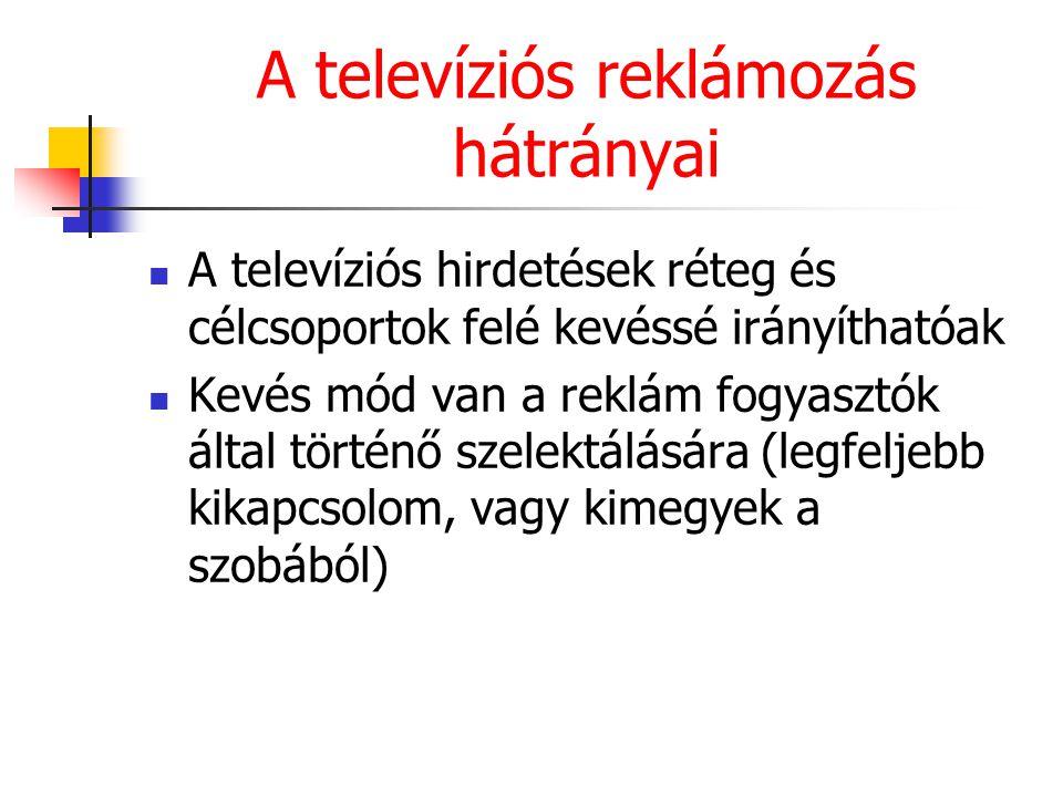 A televíziós reklámozás hátrányai