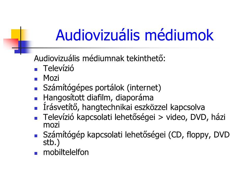Audiovizuális médiumok
