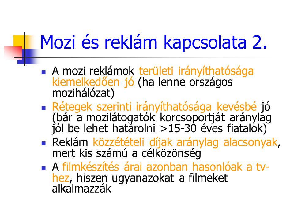 Mozi és reklám kapcsolata 2.