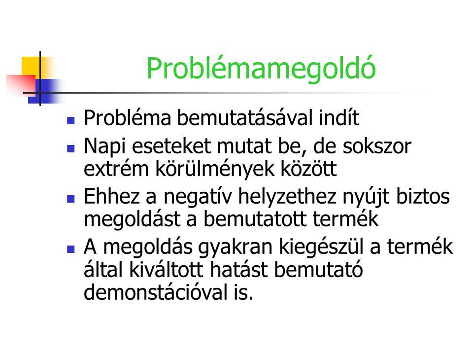 Problémamegoldó Probléma bemutatásával indít