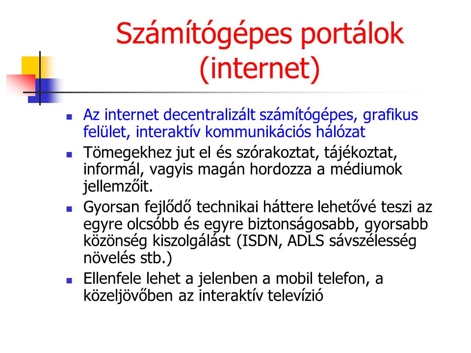 Számítógépes portálok (internet)
