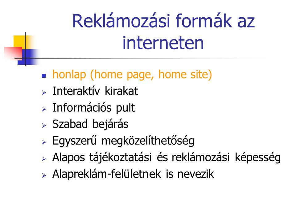 Reklámozási formák az interneten