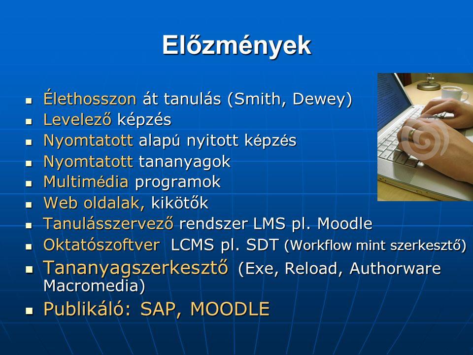 Előzmények Tananyagszerkesztő (Exe, Reload, Authorware Macromedia)
