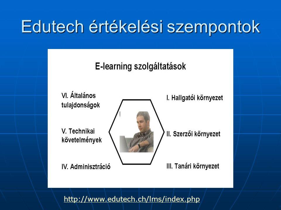 Edutech értékelési szempontok