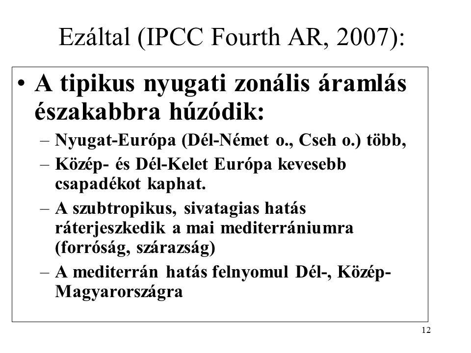 Ezáltal (IPCC Fourth AR, 2007):