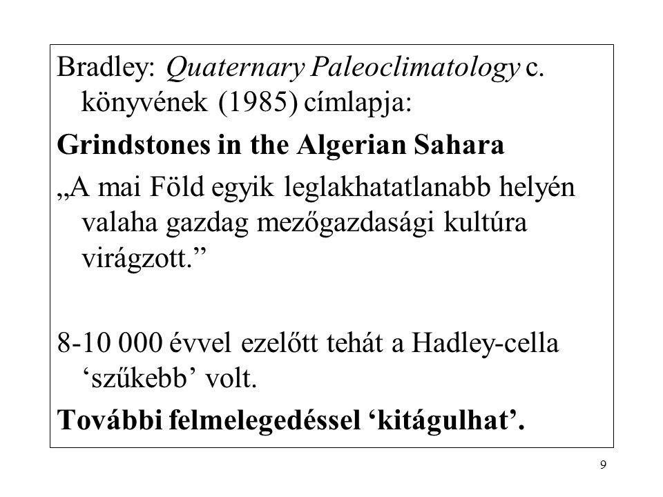 Bradley: Quaternary Paleoclimatology c. könyvének (1985) címlapja: