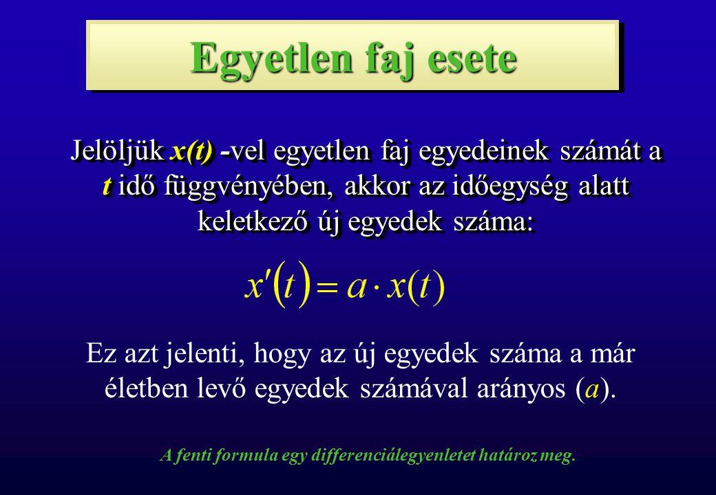 A fenti formula egy differenciálegyenletet határoz meg.