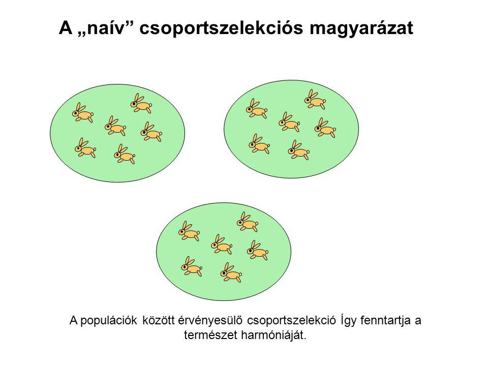 """A """"naív csoportszelekciós magyarázat"""