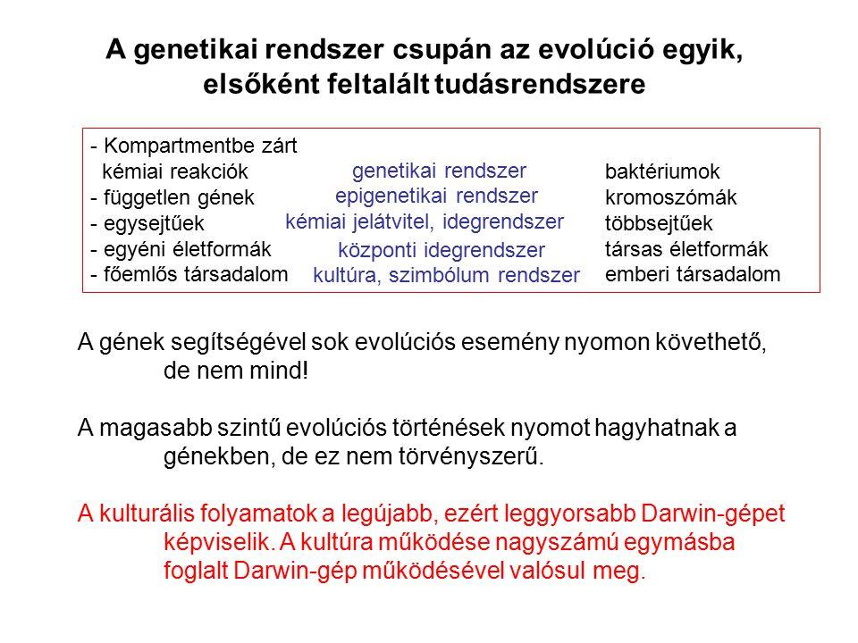 A genetikai rendszer csupán az evolúció egyik, elsőként feltalált tudásrendszere