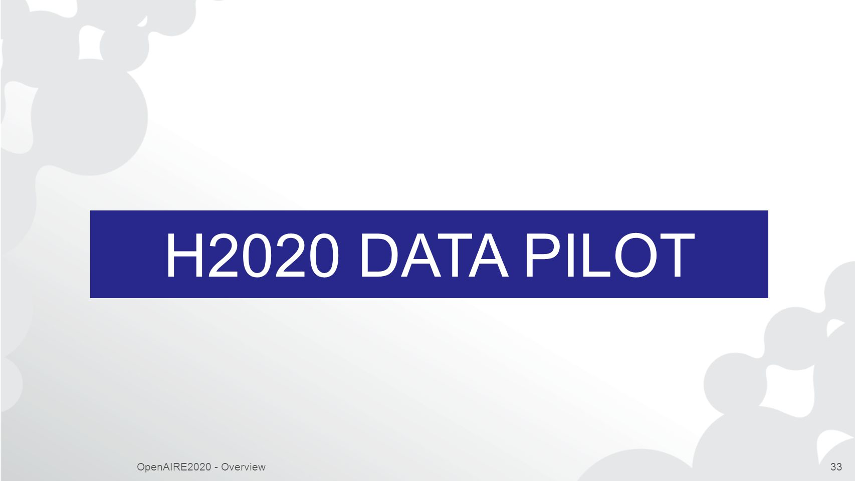 H2020 DATA Pilot OpenAIRE2020 - Overview