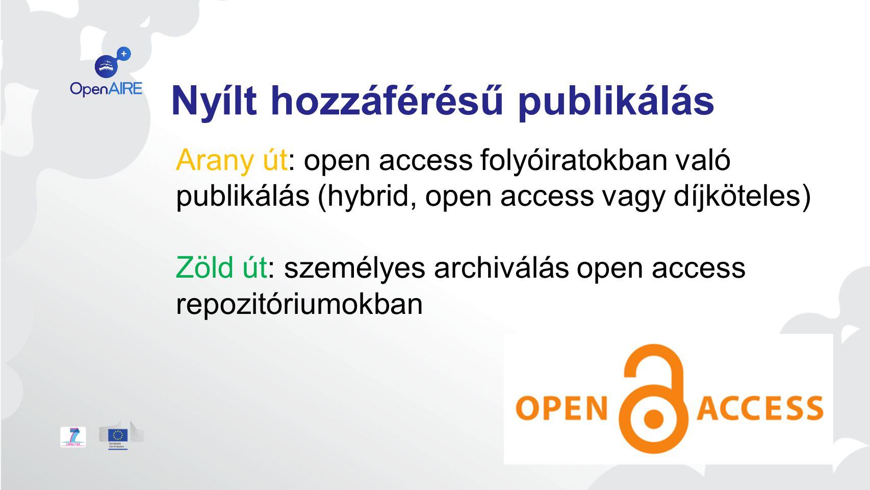 Nyílt hozzáférésű publikálás