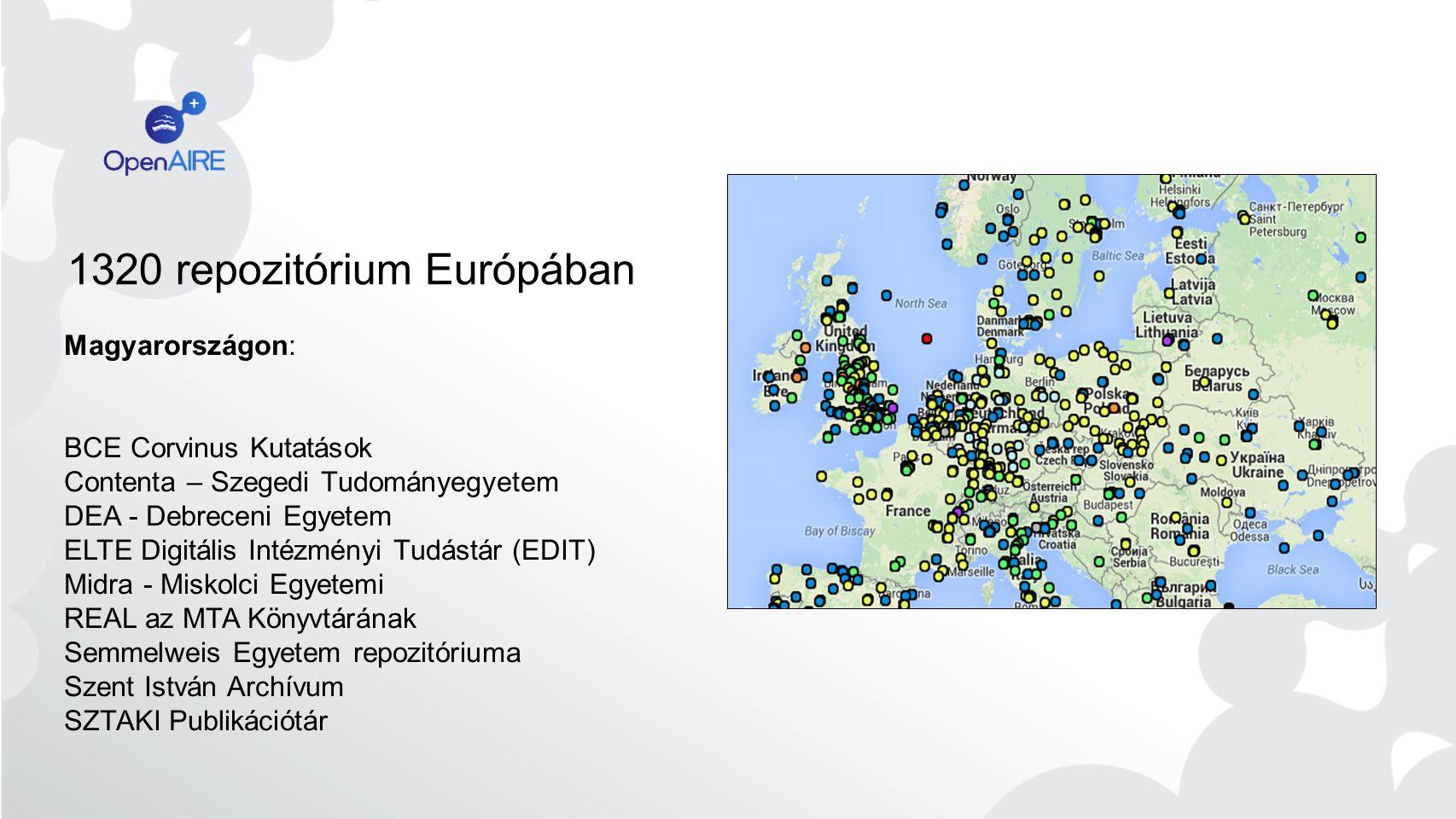 1320 repozitórium Európában