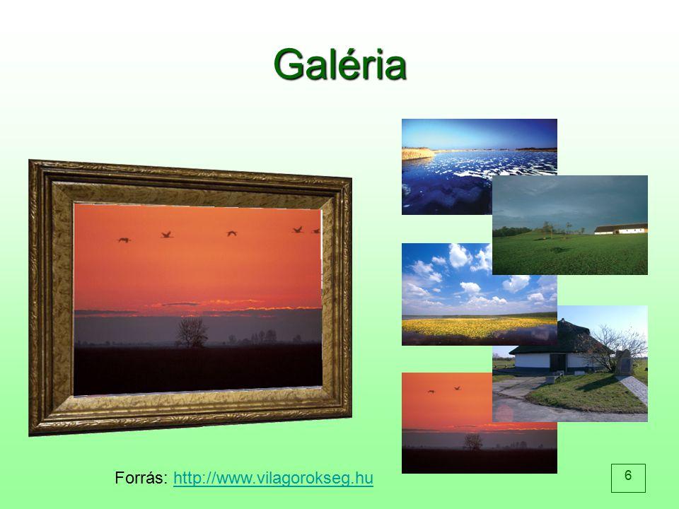 Galéria Forrás: http://www.vilagorokseg.hu