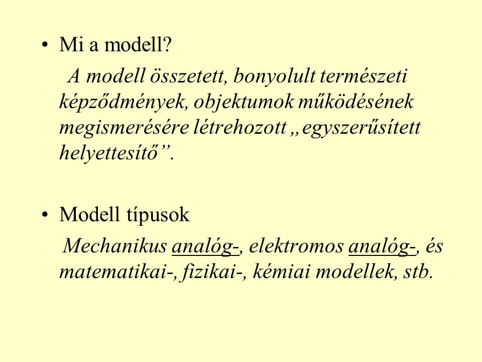 Mi a modell