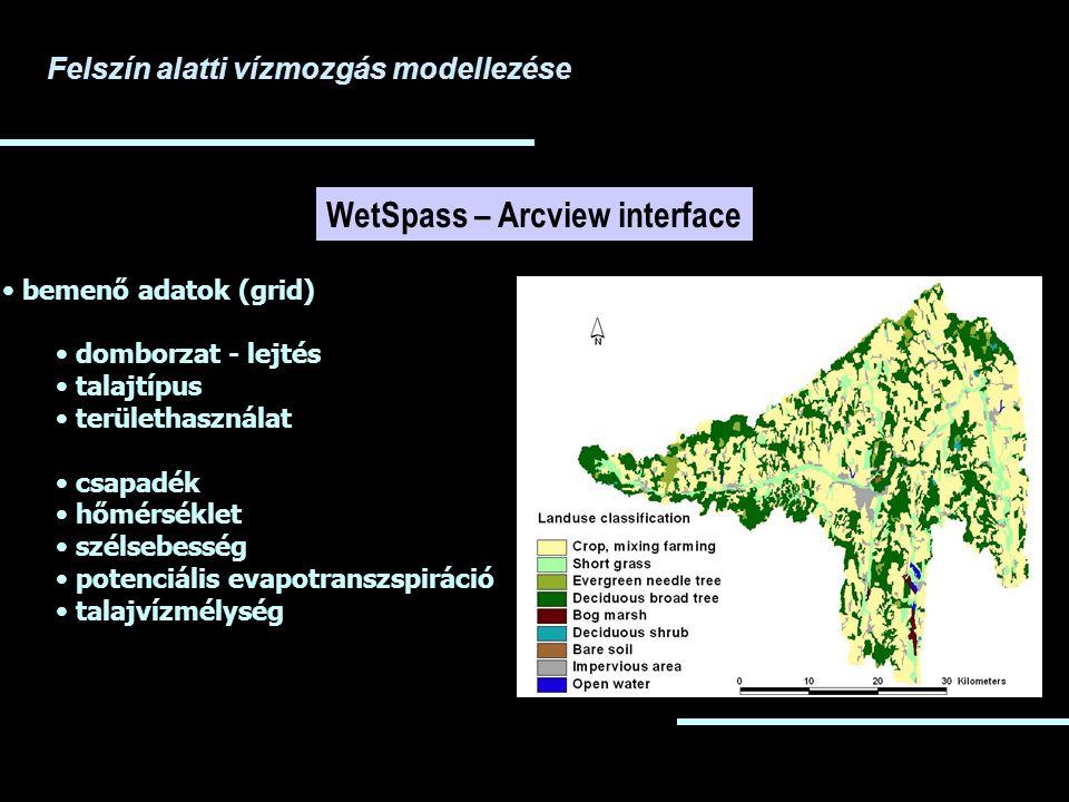 WetSpass – Arcview interface