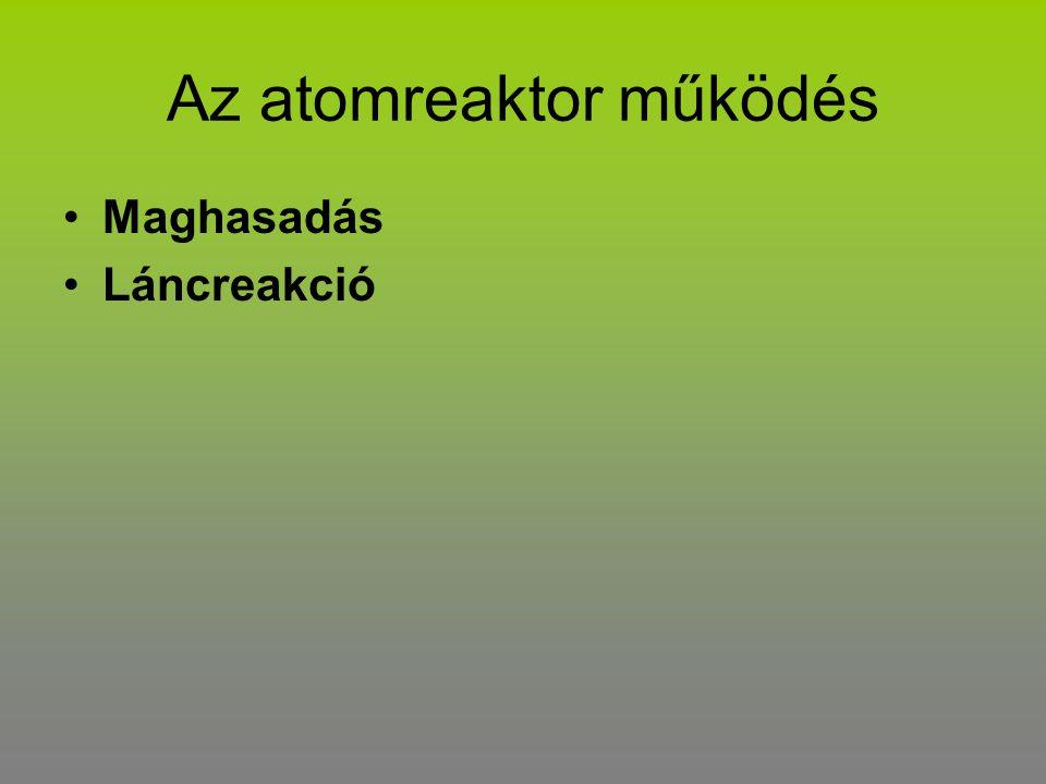 Az atomreaktor működés