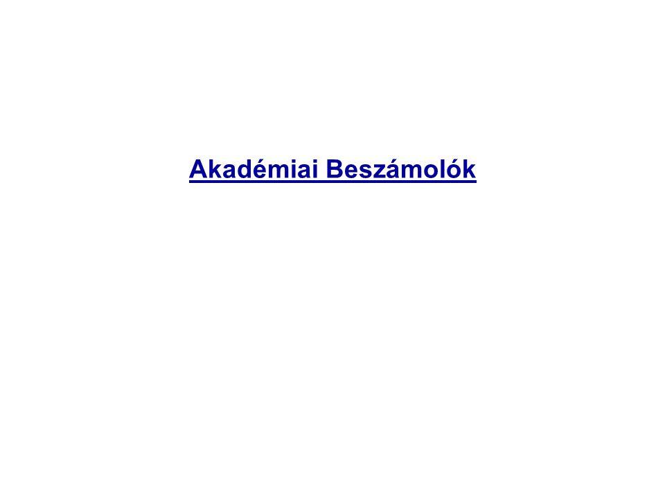 Akadémiai Beszámolók