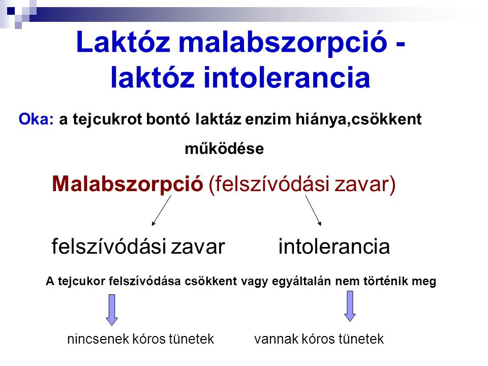 Laktóz malabszorpció - laktóz intolerancia