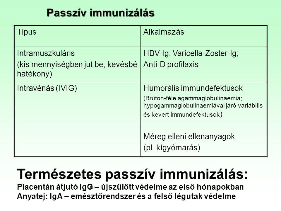 Természetes passzív immunizálás: