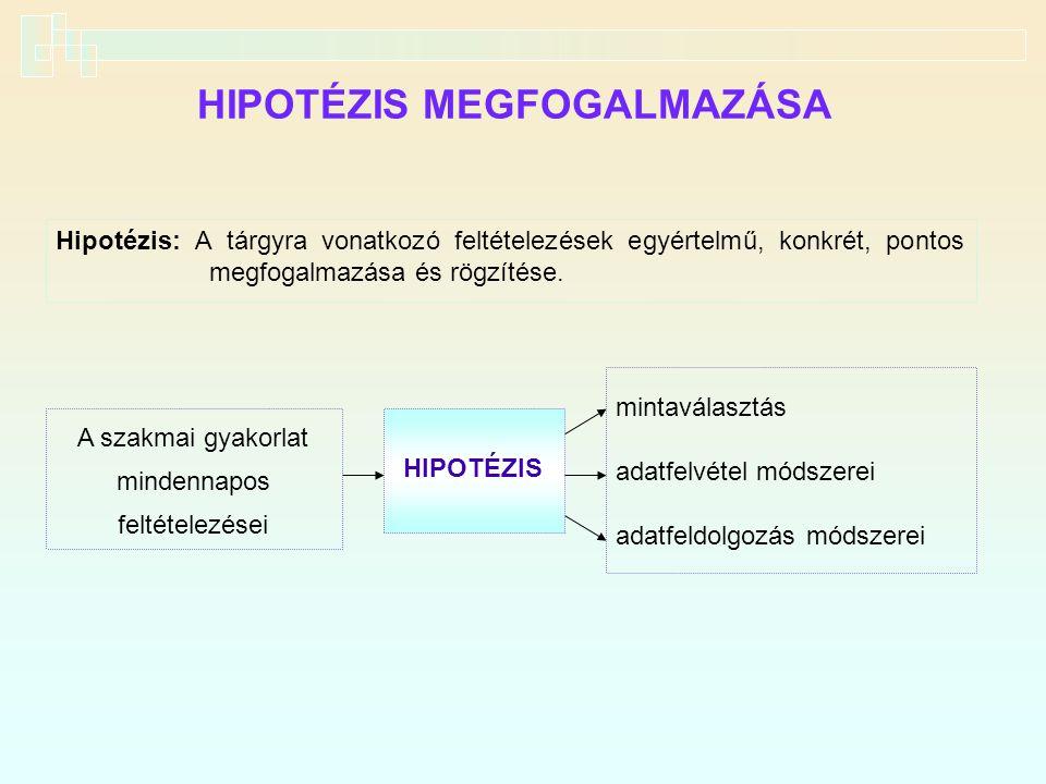 HIPOTÉZIS MEGFOGALMAZÁSA
