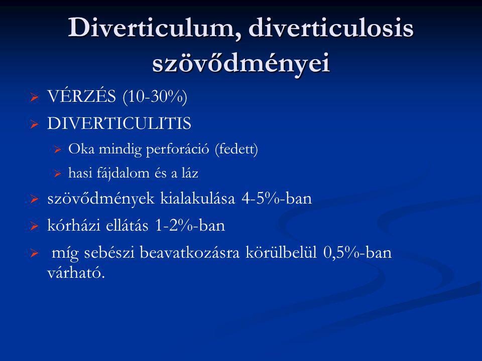 Diverticulum, diverticulosis szövődményei