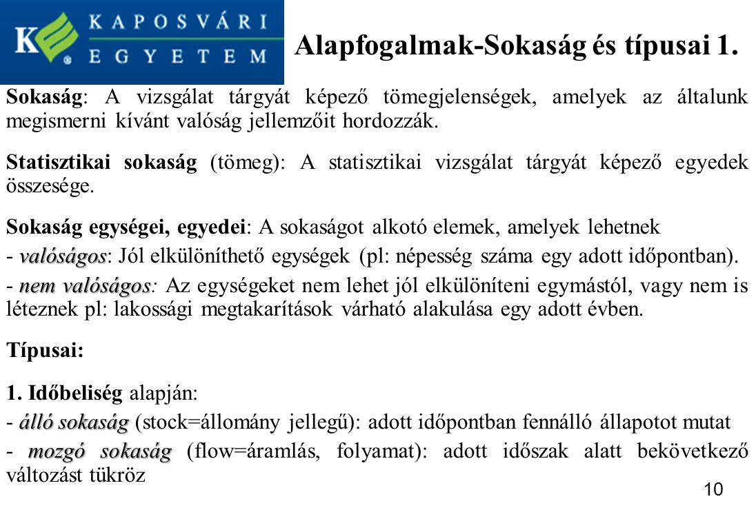 Alapfogalmak-Sokaság és típusai 1.