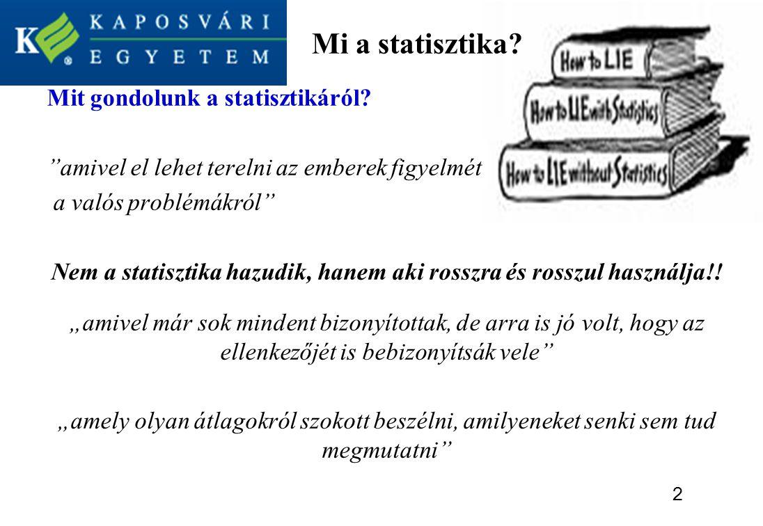 Mi a statisztika